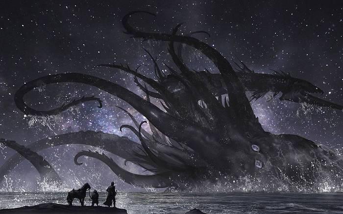 Владыка Океана Арт, Картинки, Морские чудовища