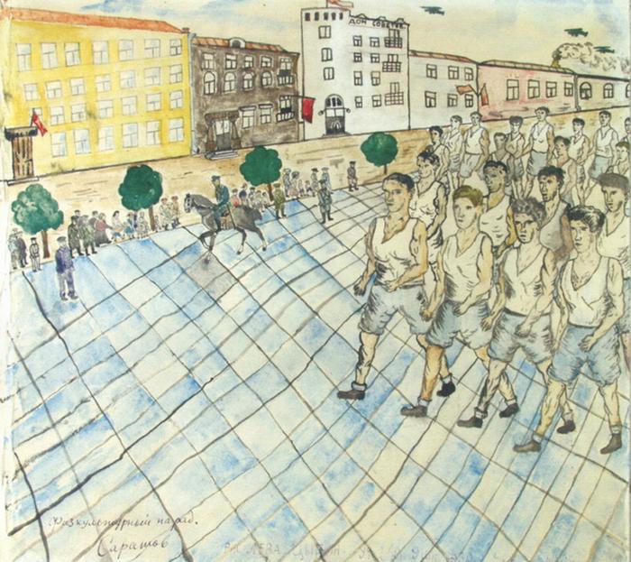 Детские рисунки 30-х годов прошлого века Рисунок, Дети, 1930-е, Длиннопост