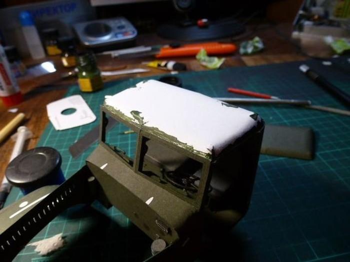 Модель КрАЗ-255Б из бумаги моделизм, краз, длиннопост, картон