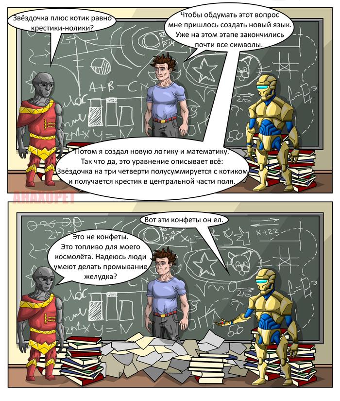 Открытие Комиксы, Человек, Пришелец, Робот, Анахорет, Длиннопост