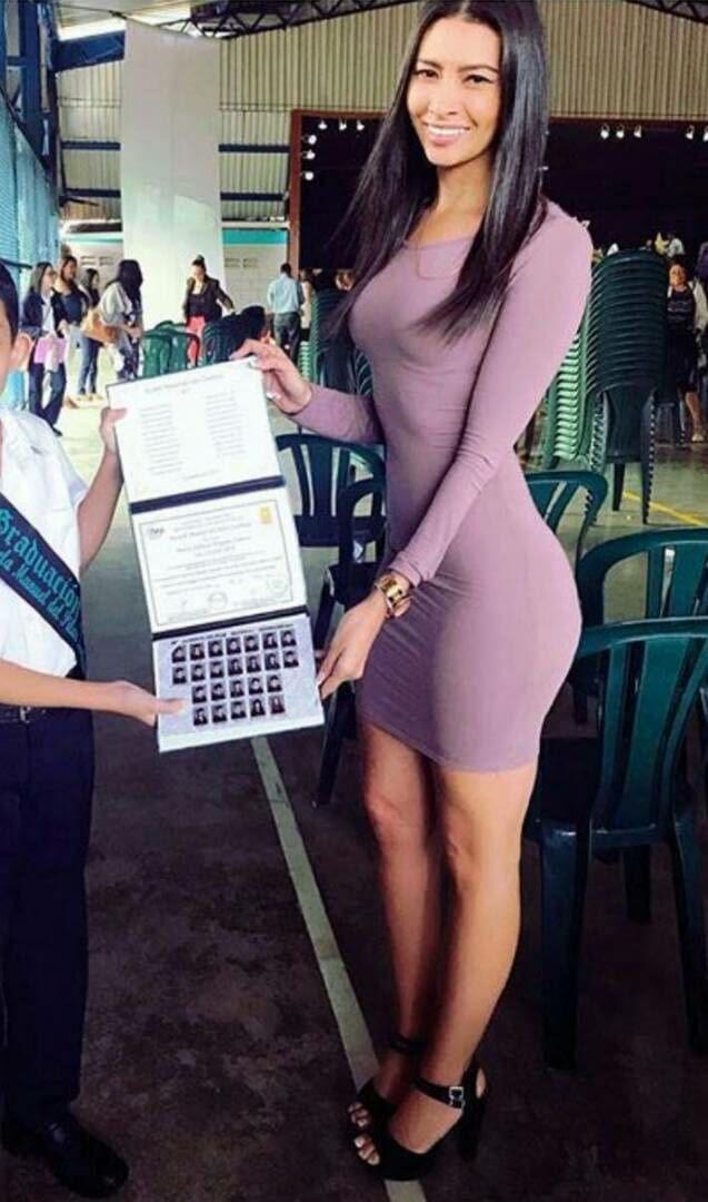 На выпускном фотография моего сына с учителем.