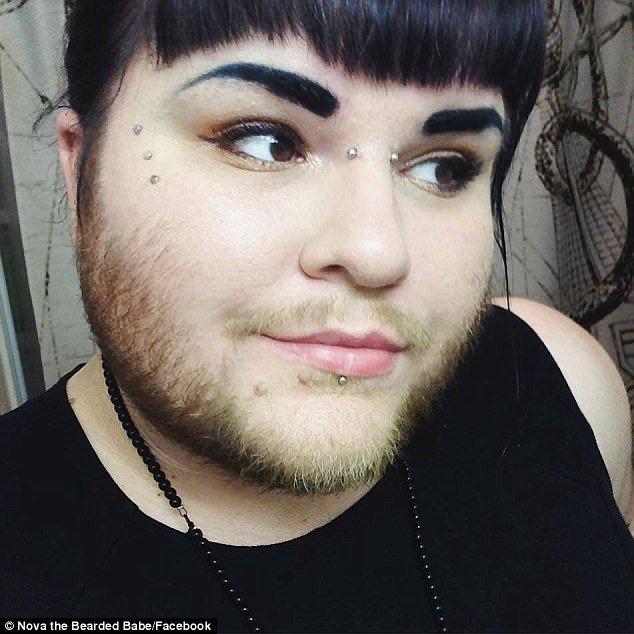 26-Летняя девушка отрастила бороду, чтобы вдохновить других гордиться собой Красивая девушка, Борода, Длиннопост