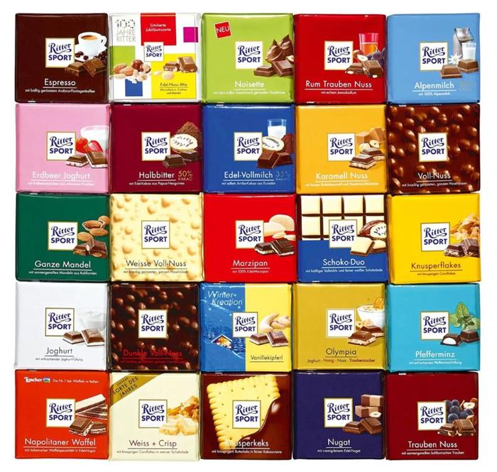 Почему плитка «Ritter Sport» имеет форму квадрата Ritter Sport, Шоколад, История создания, Текст, Интересное