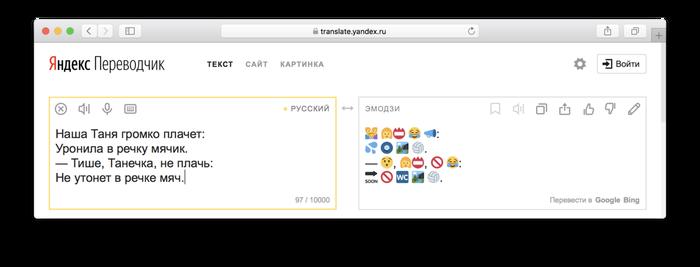 Язык будущего Эмодзи, Текст, Язык, Переводчик, Яндекс переводчик