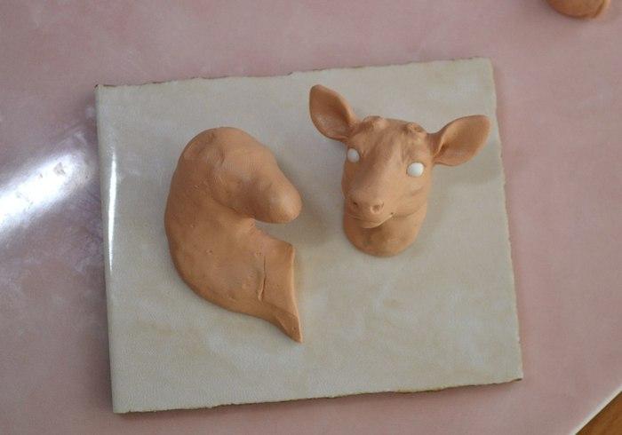 Оленята из полимерной глины. Некоторые этапы процесса. Полимерная глина, Своими руками, Олень, Рукоделие, Хобби, Ручная работа, Длиннопост, Handmade