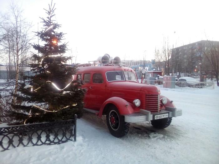 Автомобиль связи и освещения. Пожарная охрана, Мурманск, Олдтаймер