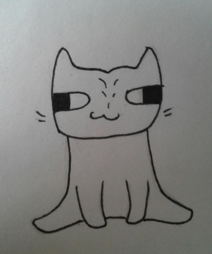 Митоз. Кот, Митоз, Арт, Рисунок на бумаге, Длиннопост