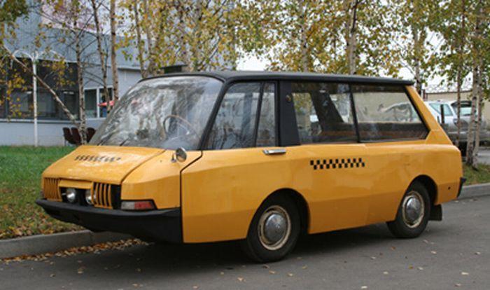 Прототип советского такси ВНИИТЭПТ, сделано, автомобиля, такси, сообщества, практичность, Колея, рассказать, формы, советского, прототип, автомобиль, серийные, мостик, подвесными, дистанционное, открывание, закрывание, двери, салона