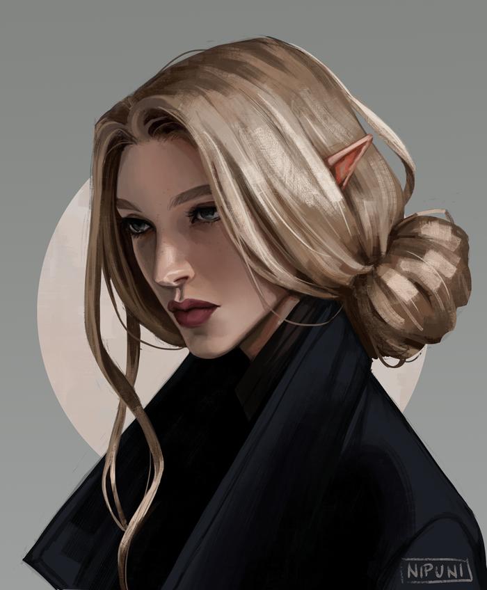 Nalia Lavellan Dragon age, Dragon Age Inquisition, Инквизитор, Арт, Nipuni