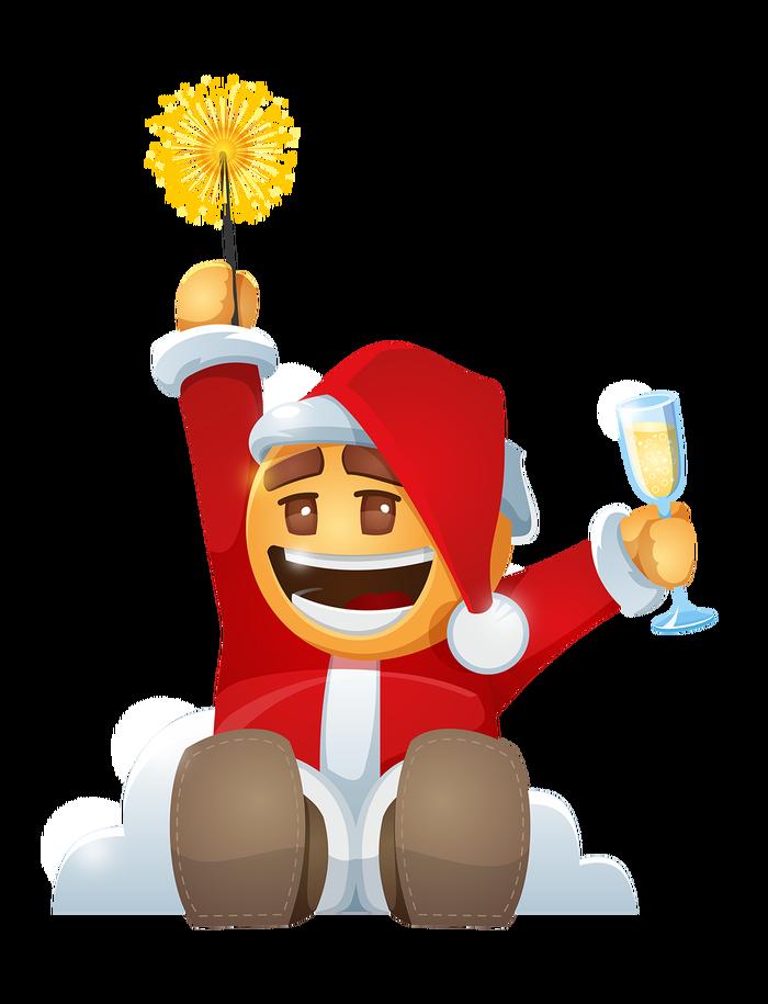 С наступающим Новым Годом! Печенька, Новый Год, Рисунок, Арт