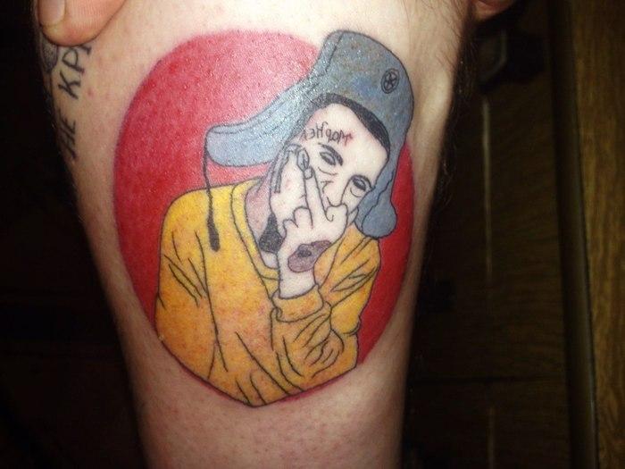 Xzibit одобряет: Парень набил себе портрет парня с татуировкой на лице Татуировка с татуировкой, Тату, Xzibit одобряет, Тег