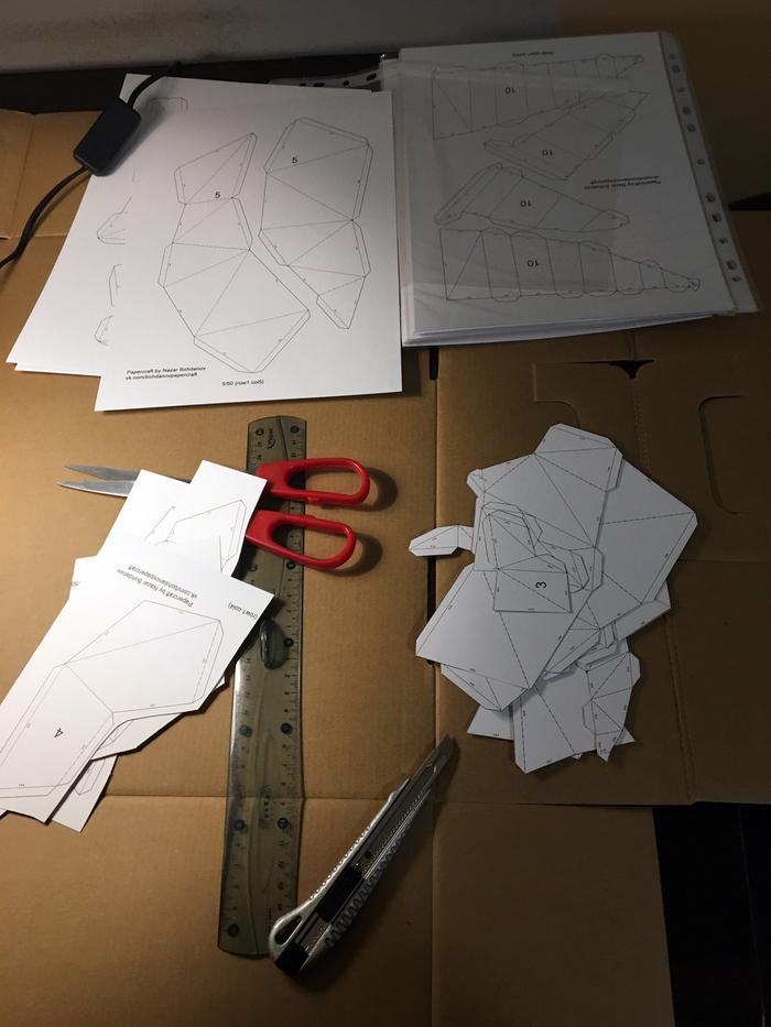 В подарок Papercraft, Динозавры, Трицератопс, Длиннопост