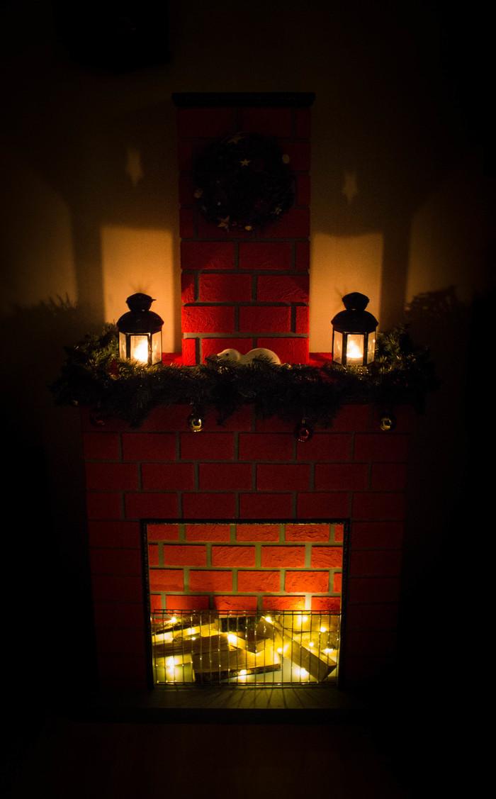 Новогодний камин Новый год, Камин, Своими руками, Декоративный камин, Длиннопост
