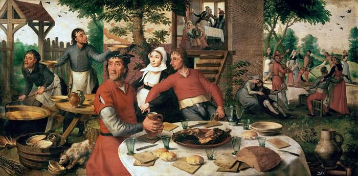 Начало, или особенности застольного этикета в Средневековье этикет, средневековье, длиннопост