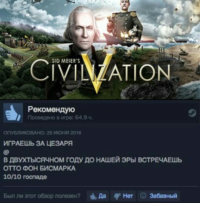 Civilization и машина времени