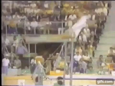 Петля Корбут — запрещенный элемент в гимнастике Ольга, Корбут, Петля, Олимпиада, Гифка