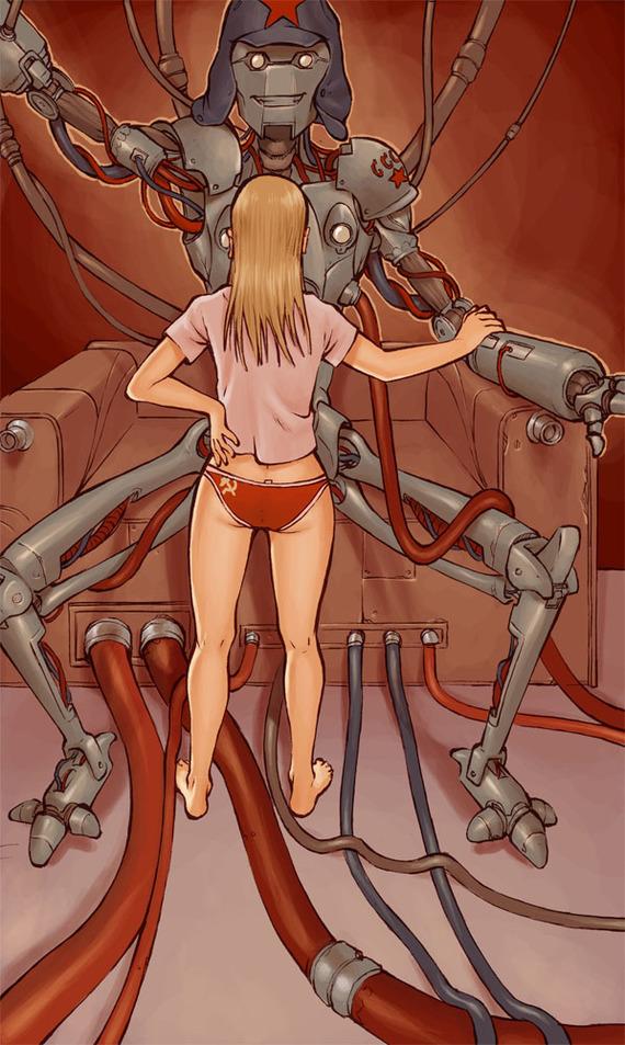 Робо-коммунизм Коммунизм, СССР, Робот, Odinrules, Длиннопост