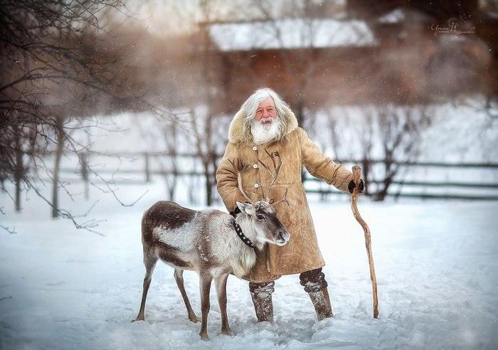 Дед мороз с оленем :)