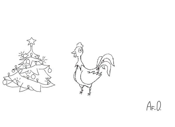 Проба пера в анимации или запоздалое поздравление с Новым 2018 Годом. Gif анимация, Покадровая анимация, Курица, Собака, 2018, Гифка