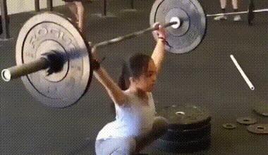 Олимпийская надежда Китая. Elle Hatamiya, Спорт, Штанга, Гимнастика, Тренировка, Детский спорт, Азиаты, Гифка