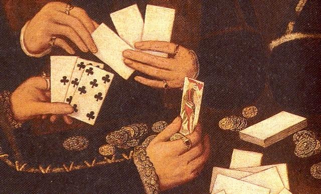 примета играть в карты