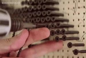 3D рисунки из шурупов