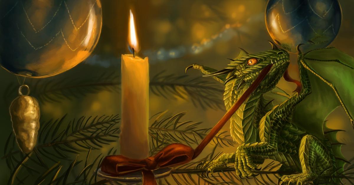 Новогоднее поздравление дракон