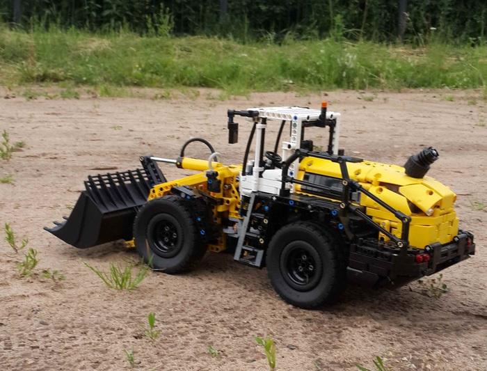 Самоделка из лего Liebherr L550 XPower Lego, Лего самоделка, Lego technic, Liebherr, Строительная техника, Длиннопост