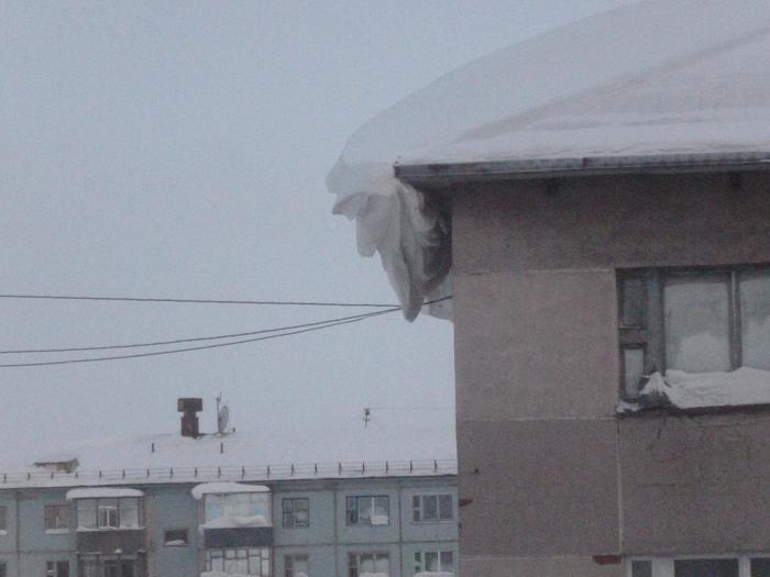Намело. Снег, Сугроб, Голова, Крыша, Фотография