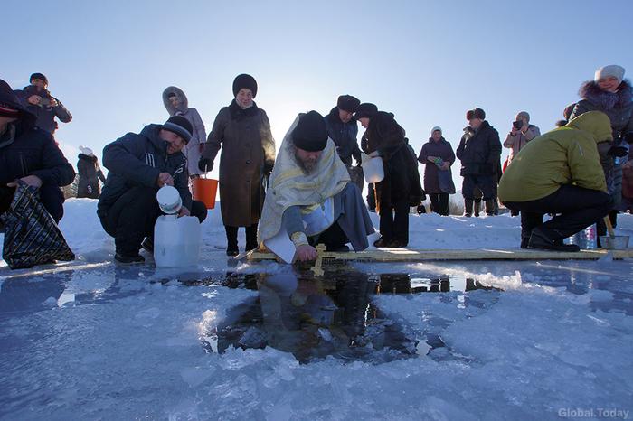 Крещение на Байкале Крещение, Байкал, Байкальск, Длиннопост