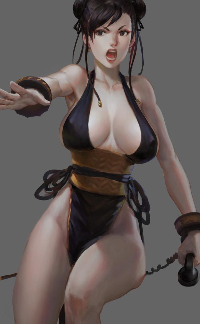Обожаю такой формат платья Арт, Платье, Chun-Li, Street Fighter, Длиннопост