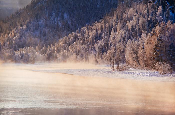 Зимнее Телецкое озеро. Горный Алтай Алтай, Горный Алтай, Телецкое, Зима, Лес, Длиннопост