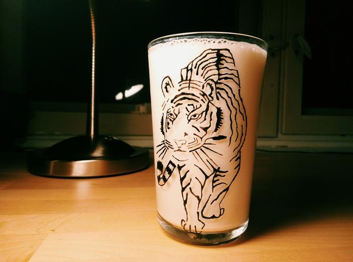 Решила проблему со стаканами. Стакан, Витражные краски, Контур, Длиннопост
