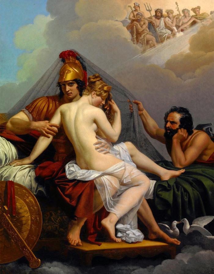 Александр Шарль Гильмо — Афродита И Арес, обнаруженные Гефестом Мифы, Древнегреческие боги, Афродита, Измена