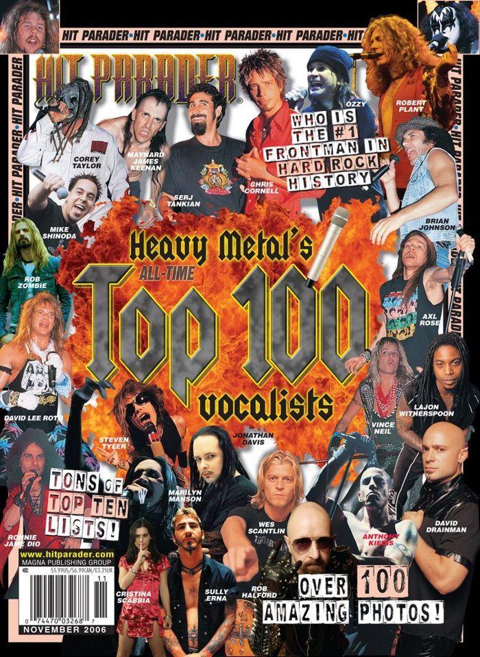 Лучшие 10 рок вокалистов по версии HIT PARADER Рок, Хит-Парад, Вокалисты, Видео, Длиннопост