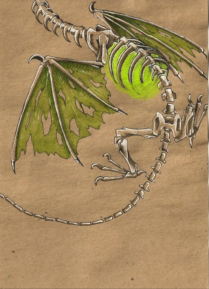 Некрополь HOMM III, Герои меча и магии, Некрополис, Дракон, ЮкАрт, Иллюстрации, Длиннопост