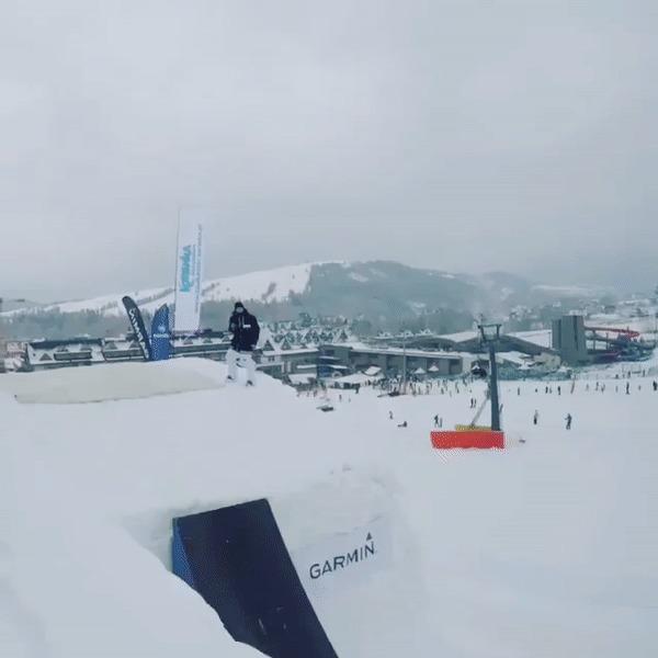 Вело-лыжный трюк.