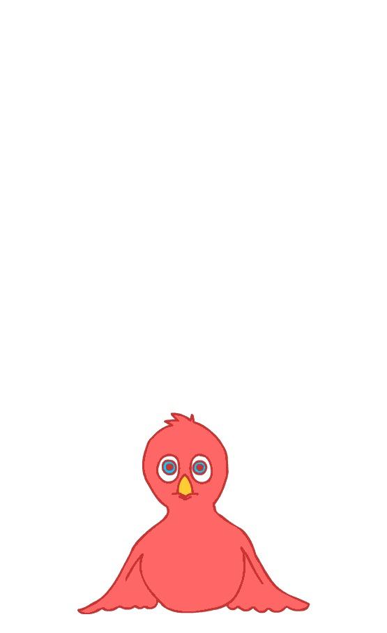 Птичка учится летать, человек - анимировать