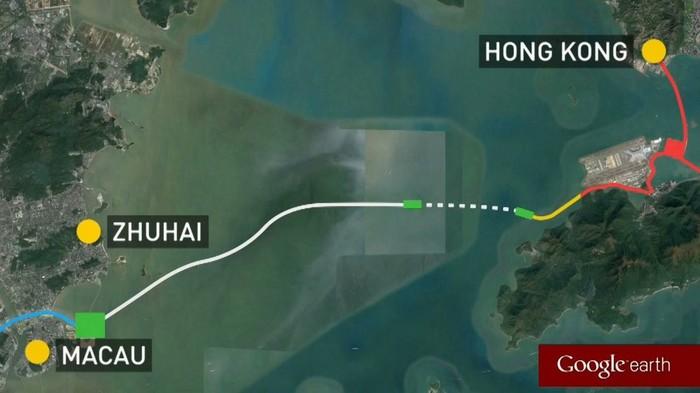 В Китае построили самый длинный в мире морской мост Китай, Технологии, Мост, Видео, Длиннопост