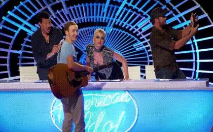 Первый поцелуй Поцелуй, Кэти Пэрри, American Idol, Гифка
