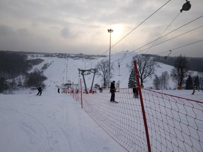Уверенный в себе сноубордист Сноуборд, Склон