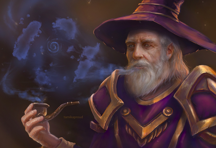 Mage World of Warcraft, Blizzard, Mage, Игры, Рисунок, Game art