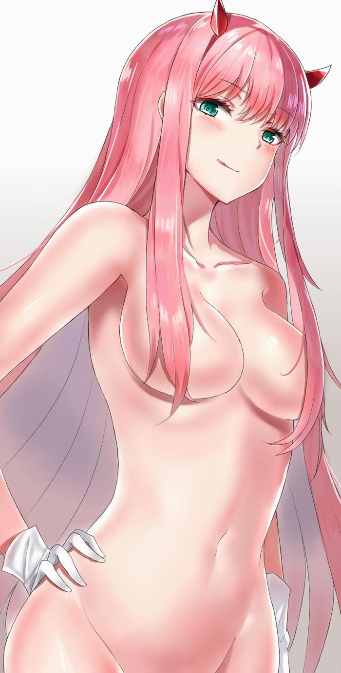 Рожки ей к лицу Darling in the franxx, Zero two, Аниме, Anime Art