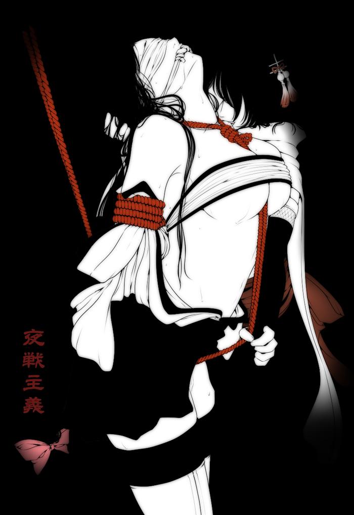 Yasen Kantai collection, Sendai, Shouhou, Аниме, Anime Art, Shibari, Сиськи, Арт