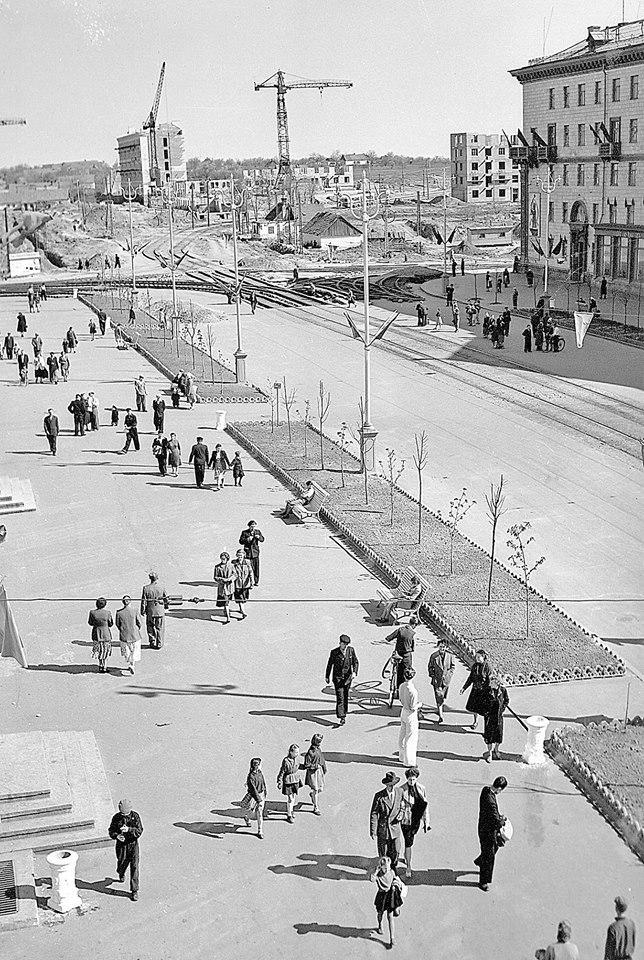 Фото застройки послевоенного Запорожья