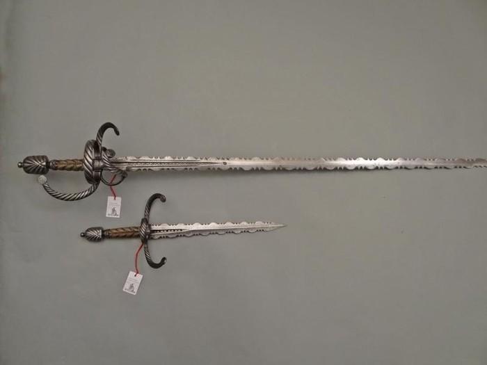 Фламберг, или пламенеющий меч во всём разнообразии. Фламберг, 16 век, Ренессанс, Холодное оружие, Меч, Рапира, Длиннопост, Фотография