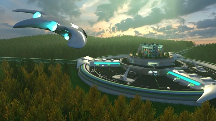 Работа на конкурс по 3D моделированию. Blender, Visualization, Render, Будущее, 3d моделирование