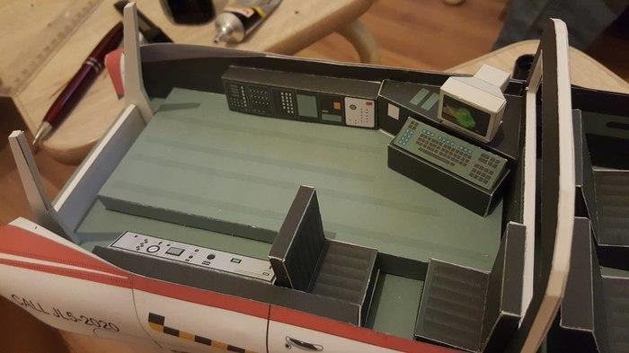 ECTO-1Ghostbusters ECTO-1, ghostbusters, модель, масштабная модель, papercraft, paper, своими руками, длиннопост
