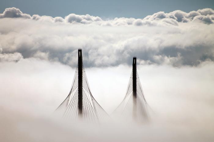 ЗСД в тумане. Начинающий, Фотограф, Фотография, Мост, Зсд