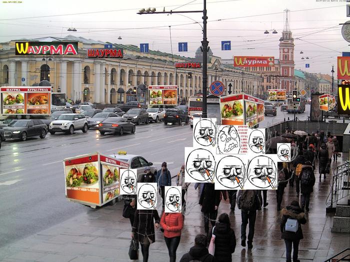Прогулки по Питеру Санкт-Петербург, Ожидание и реальность, Ожидание, Реальность, Курильщики, Шаурма, Путешествия